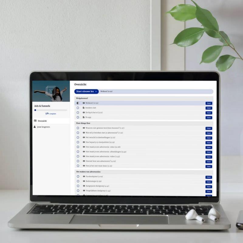 facebook adverteren marketing workshop cursus online nederlands kim de graeve passief inkomen vrijheid teveel werk6