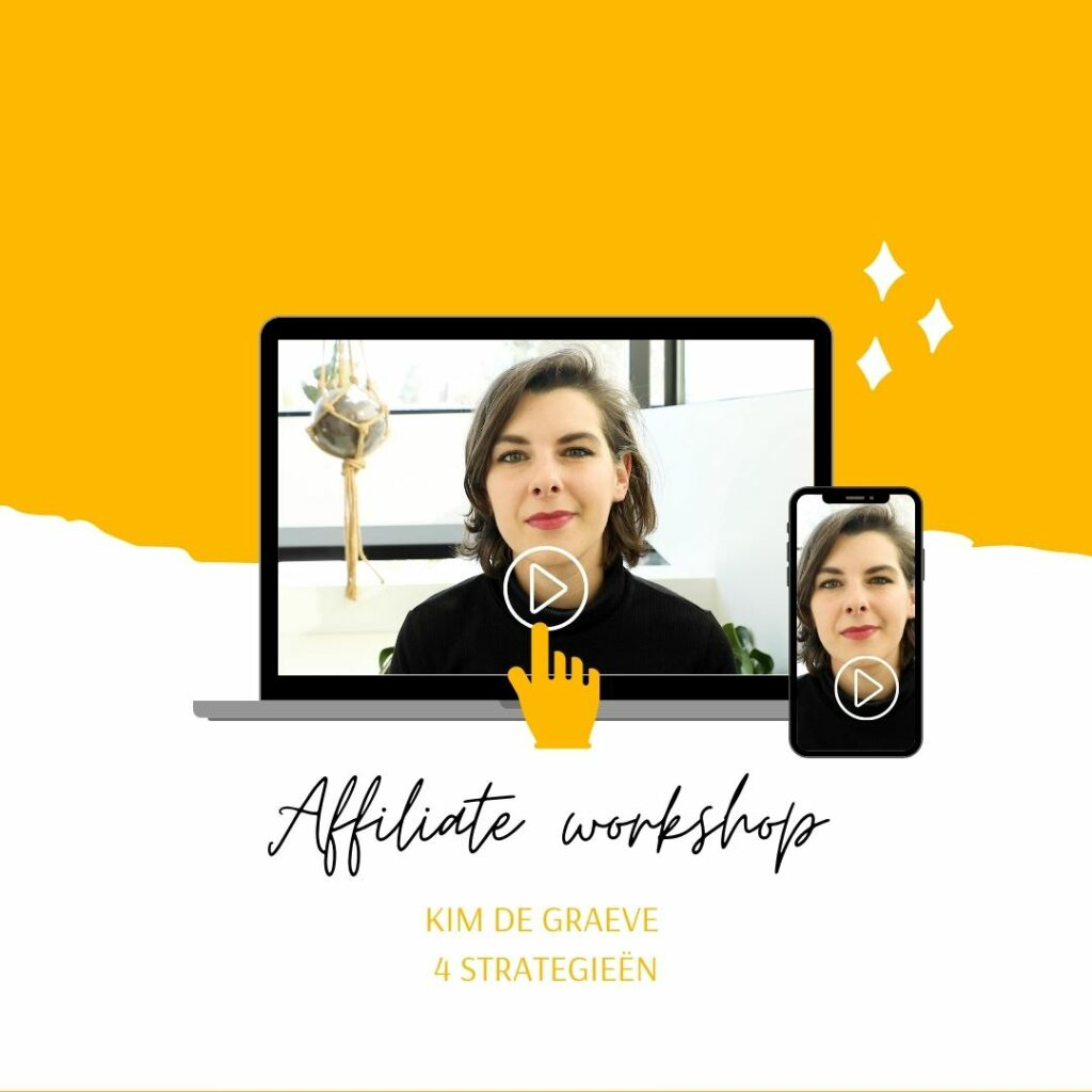affiliate strategie kim de graeve workshop online